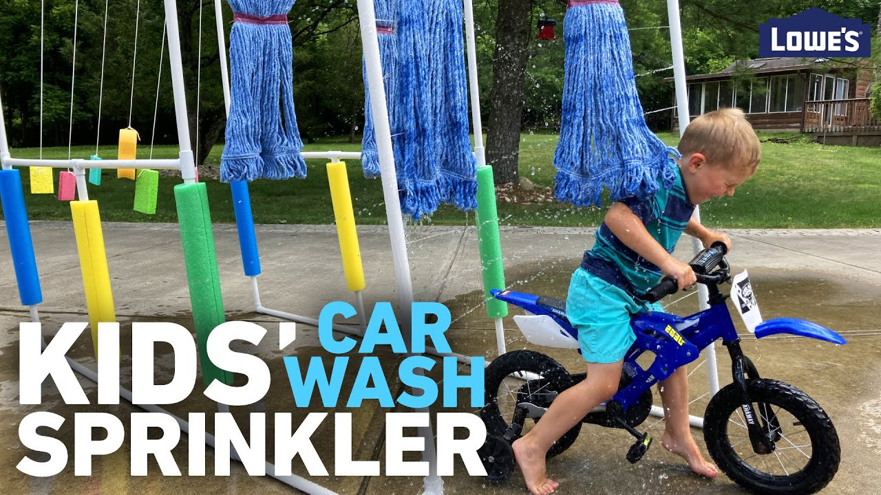 How To Build a Kid's Car Wash Sprinkler