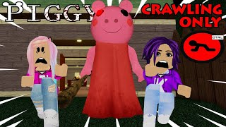 Piggy CRAWLING ONLY Challenge! *EXTREME DIFFICULTY* / Roblox