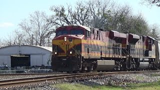 KCS 4697 North at the Wye of Victoria, TX with 3rd Gen K5LA Horn Sequencer