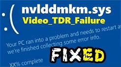 nvlddmkm.sys Windows 10 fix | How to fix Video_TDR_Failure Blue Screen Error
