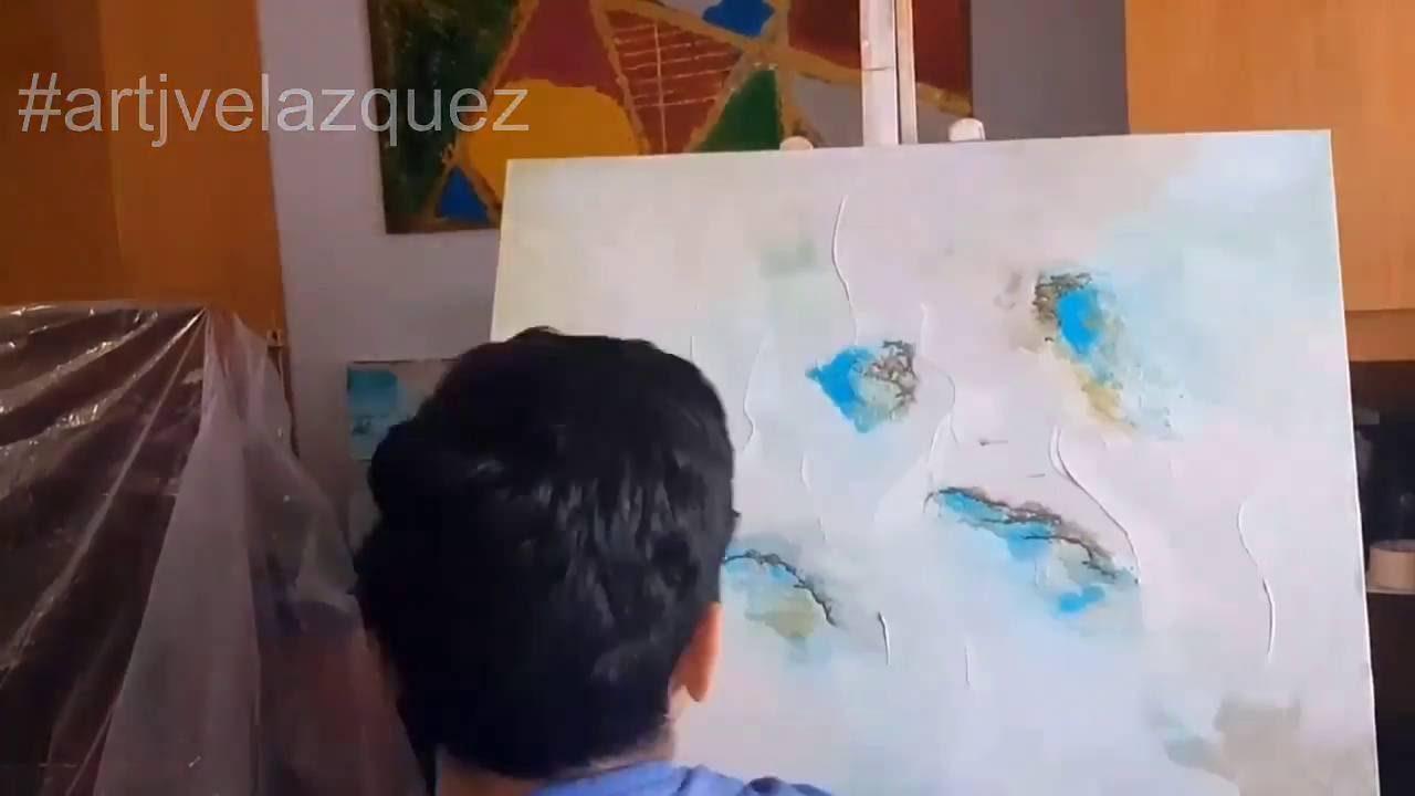 Paso a paso cuadro abstracto moderno youtube - Cuadros abstractos paso a paso ...