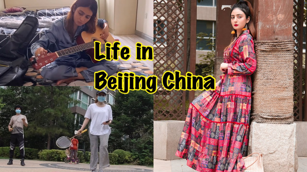 I Sang A Song | We Played Badminton Inside Beijing Community | RIDA ZAYN VLOGS