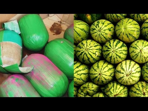 Border Control Sieze 3,000 Pounds of Pot Disguised As Watermelons