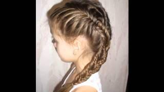 Плетение кос (для маленьких девочек разные виды)
