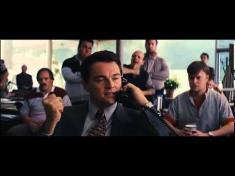 The Wolf of Wall Street 2013 selling thru phone scene
