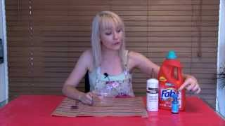 How To Make Slime With Wood Glue & Laundry Liquid - No Borax