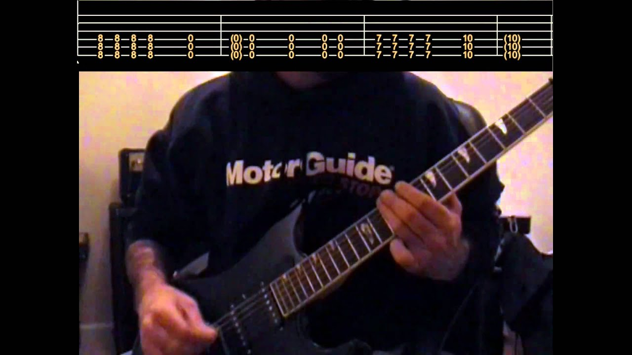 Three Days Grace Never too late guitar lesson with tabs - YouTube