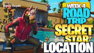 "Fortnite Battle Royale Saison 5 Semaine 4 Secret Battlestar Emplacement (""Road Trip"" Challenges)"