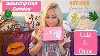 OCTOBER Cate & Chloe VIP Box ~ JEWELRY ~ Subscription Sunday - UNBOXING & REVIEW