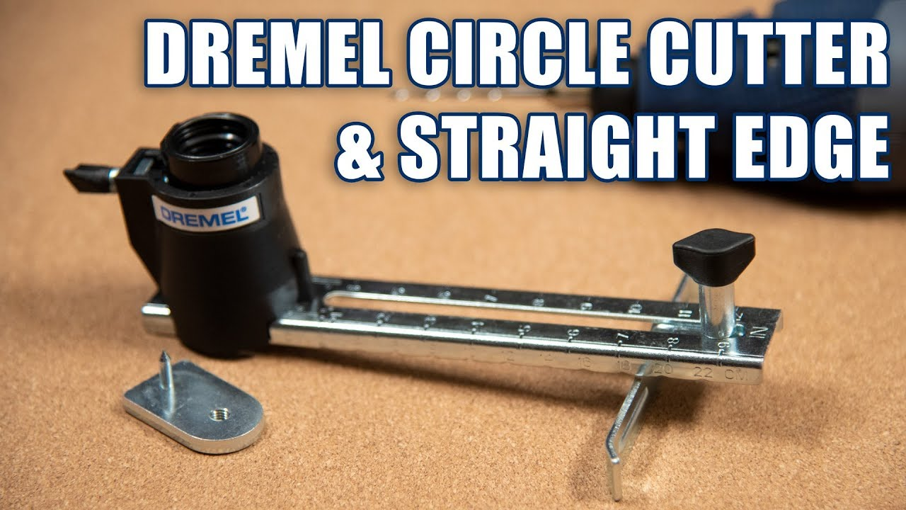 Dremel Circle Cutter Straight Edge Guide Test Review Youtube