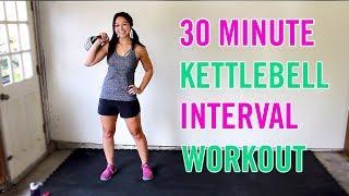 30 Minute Kettlebell Interval Workout | Full Body Kettlebell Home Workout