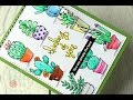 SSS May 2017 Card Kit | Watercolor Cacti w Crayola Fine Line Markers