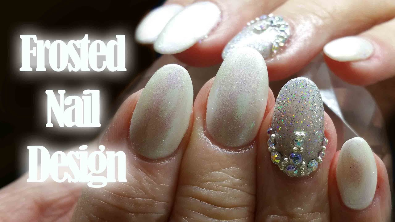 Acrylic Nail Infill | frosted gel polish design | ft Ladyqueen.Com ...