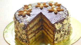 """Миндальный торт """"ОСОБЕННЫЙ"""" бисквит Джоконда. Almond cake."""