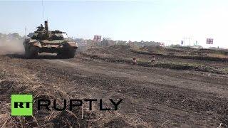 В Донбассе прошли соревнования по танковому биатлону между ДНР и ЛНР