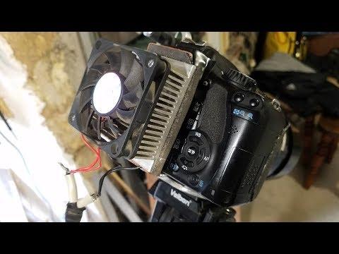 Canon 550D - охлаждение от уксуса до Пельтье.