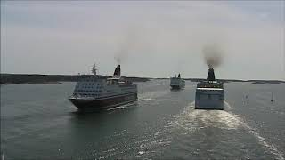 Silja Line Europa Meets Viking Isabella - Amorella After Departure From Mariehamn Åland