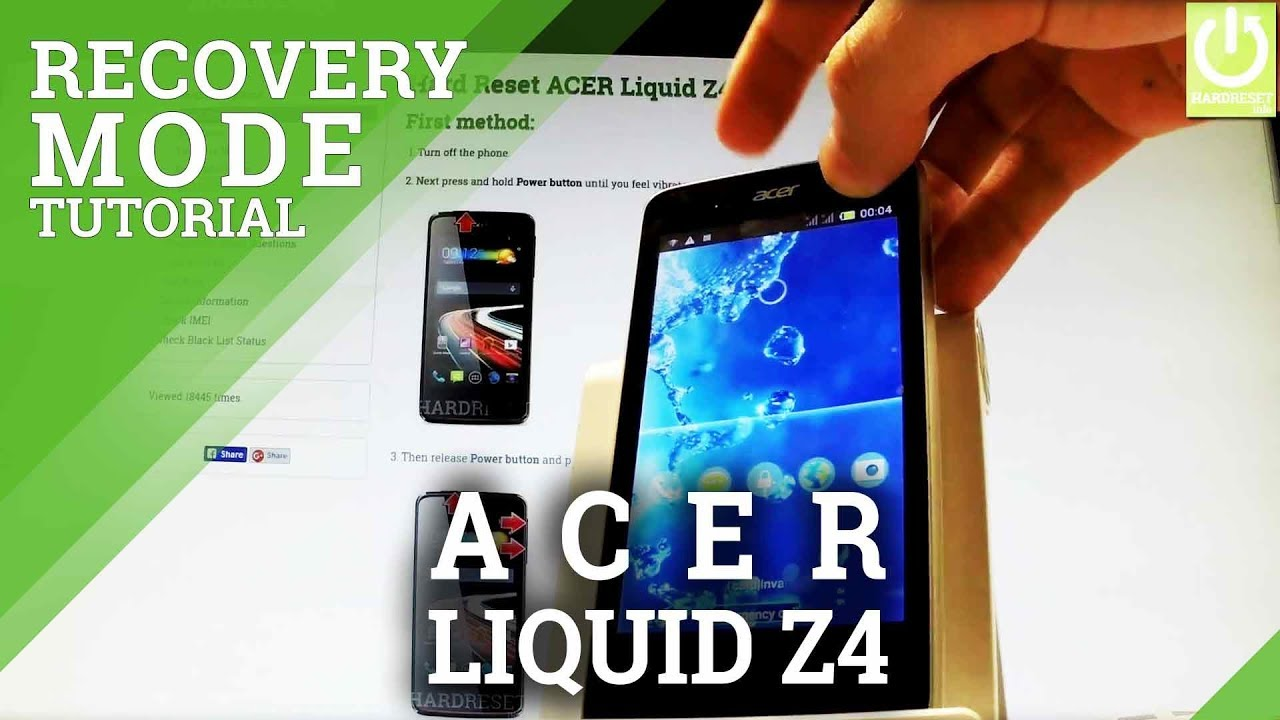 Recovery Mode ACER Liquid Z220 - HardReset info