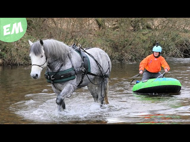 Moorland Mountain Boarding & up to our necks in the River!