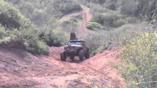 Supercharged Jeep Wrangler hill climb