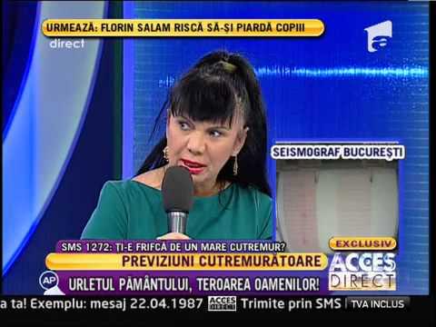 """Doina Ionel, clarvazatoare: """"Urmeaza un cutremur mare in Romania!"""""""
