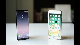 مقارنة ايفون ٨ بلس و سامسونج جالكسي نوت ٨ iPhone 8 plus Vs Note 8