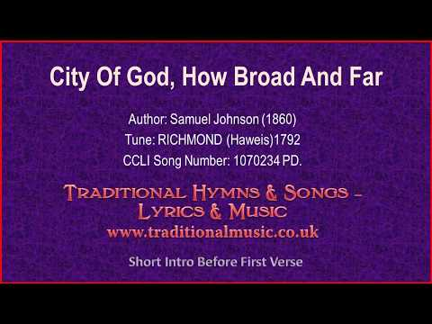 City Of God, How Broad And Far(MP814) - Old Hymn Lyrics & Music