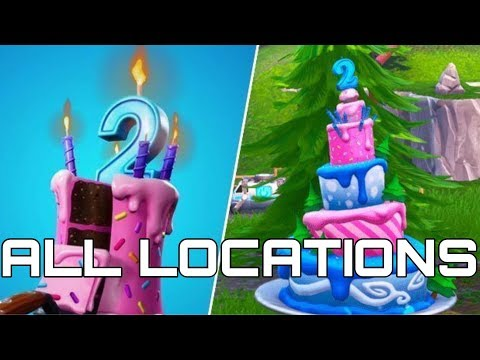 Dance In Front Of Birthday Cakes | All Cakes Location | Fortnite 2nd Birthday