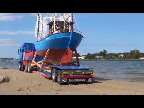 RC Construction site. Dead Vistula  part II  transport fishing boats