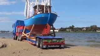 RC Construction site. Dead Vistula  part II  transport fishing boats