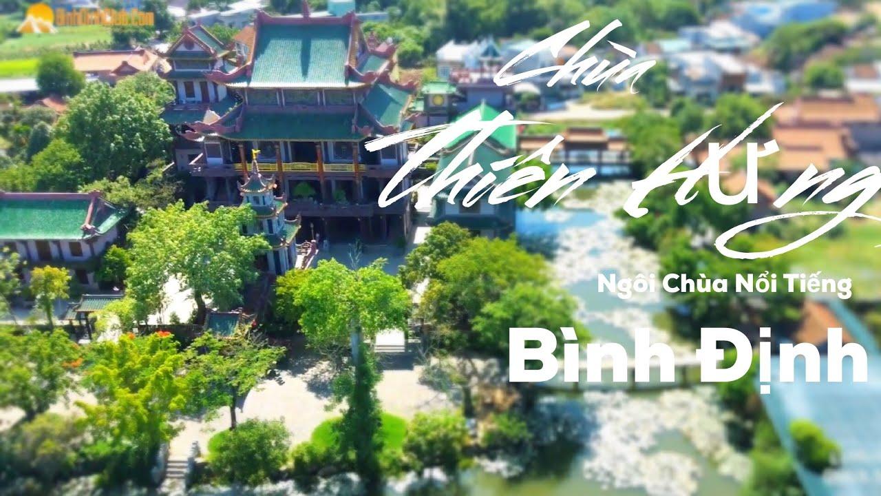 Chùa Thiên Hưng Qua Góc Nhìn Flycam 2019  – Ngôi Chùa Nổi Tiếng – An Nhơn – Bình Định