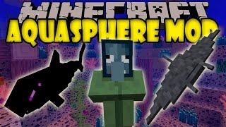 AQUASPHERE MOD - Ender Tiburones, Biomas marinos y mas! - Minecraft mod 1.6.4 Review ESPAÑOL