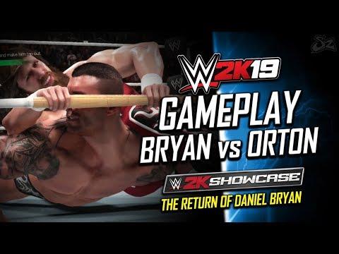 WWE 2K19 GAMEPLAY: Daniel Bryan vs Randy Orton - 2K Daniel Bryan Showcase