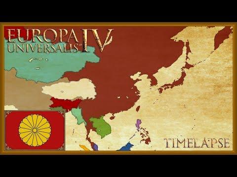 Europa Universalis 4 - Japanese Emperor of China - Timelapse (Mandate of heaven)