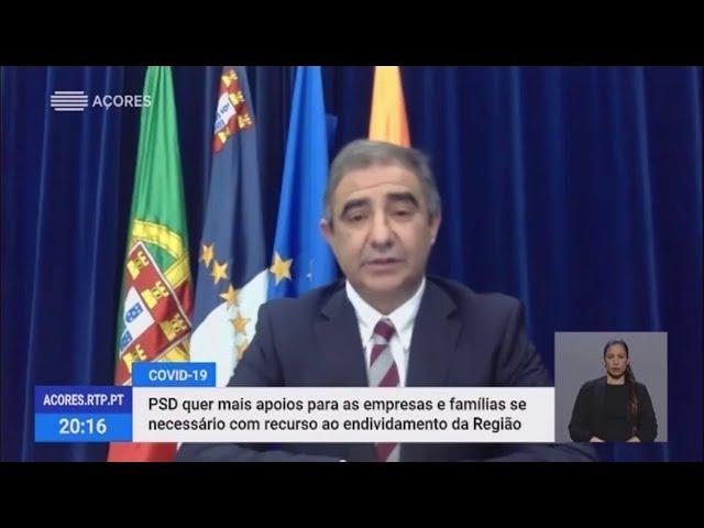 COVID-19. Bolieiro garante apoio a revisão orçamental para ajudar famílias e empresas