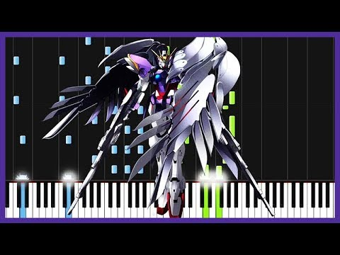 Just Communication - Gundam Wing (Opening 1) [Piano Tutorial] (Synthesia) // John Yang Piano