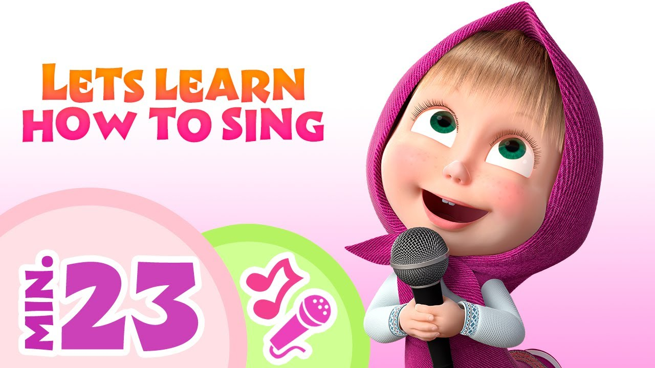 TaDaBoom English 🎙️👧 LET'S LEARN HOW TO SING! 👧🎙️ Karaoke collection for kids 🎵🎤 Masha and the Bear