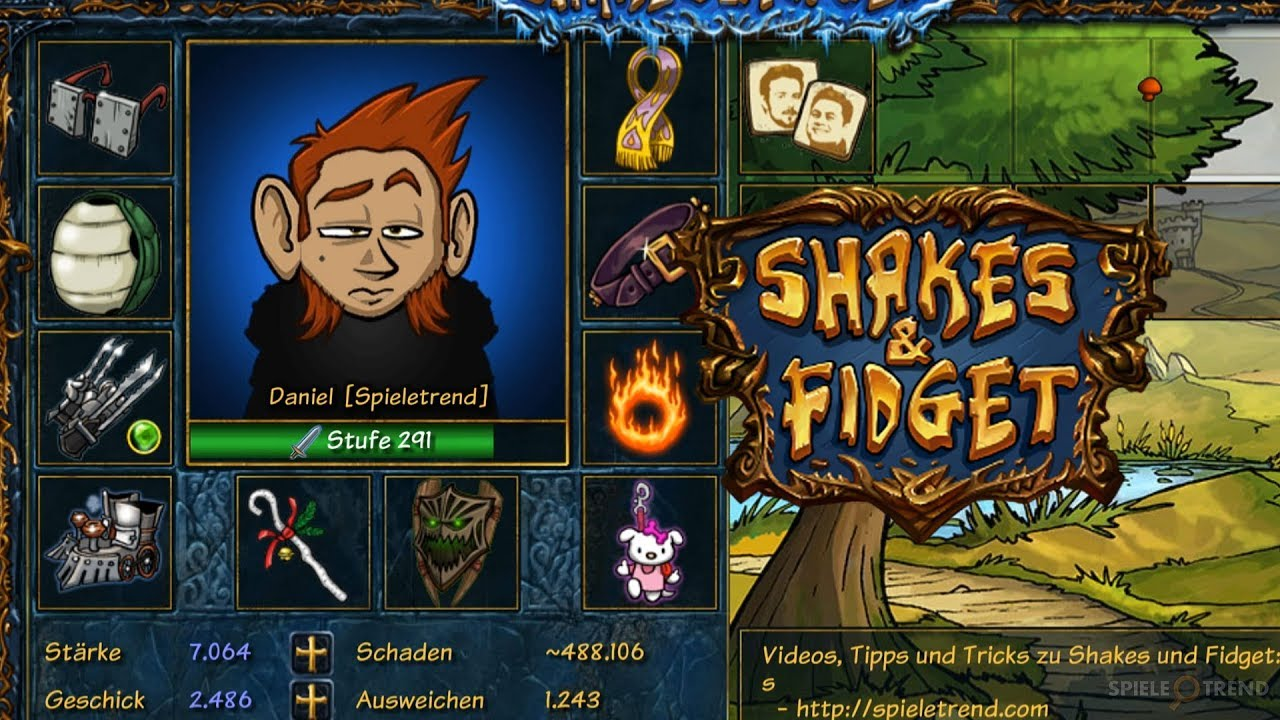 Shakes And Fidget Charakter