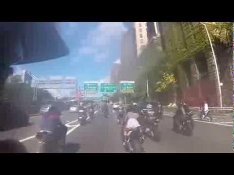 Black Range Rover Runs Over Bikers in NYC