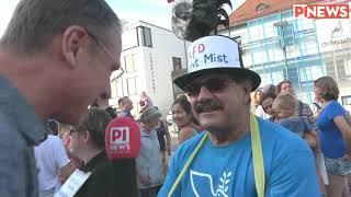 Interviews mit Demonstranten gegen AfD in Pfaffenhofen
