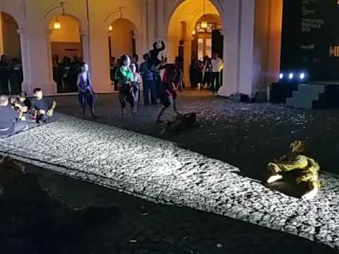 A Performance From The Work Of Artist Sakarin Krue-On At The Singapore Biennale Opening