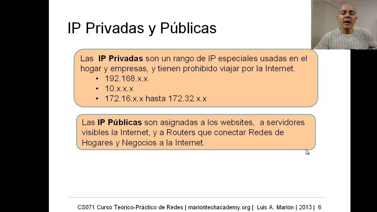 CS071 06 02 Dirección IP - Privada y Públicas