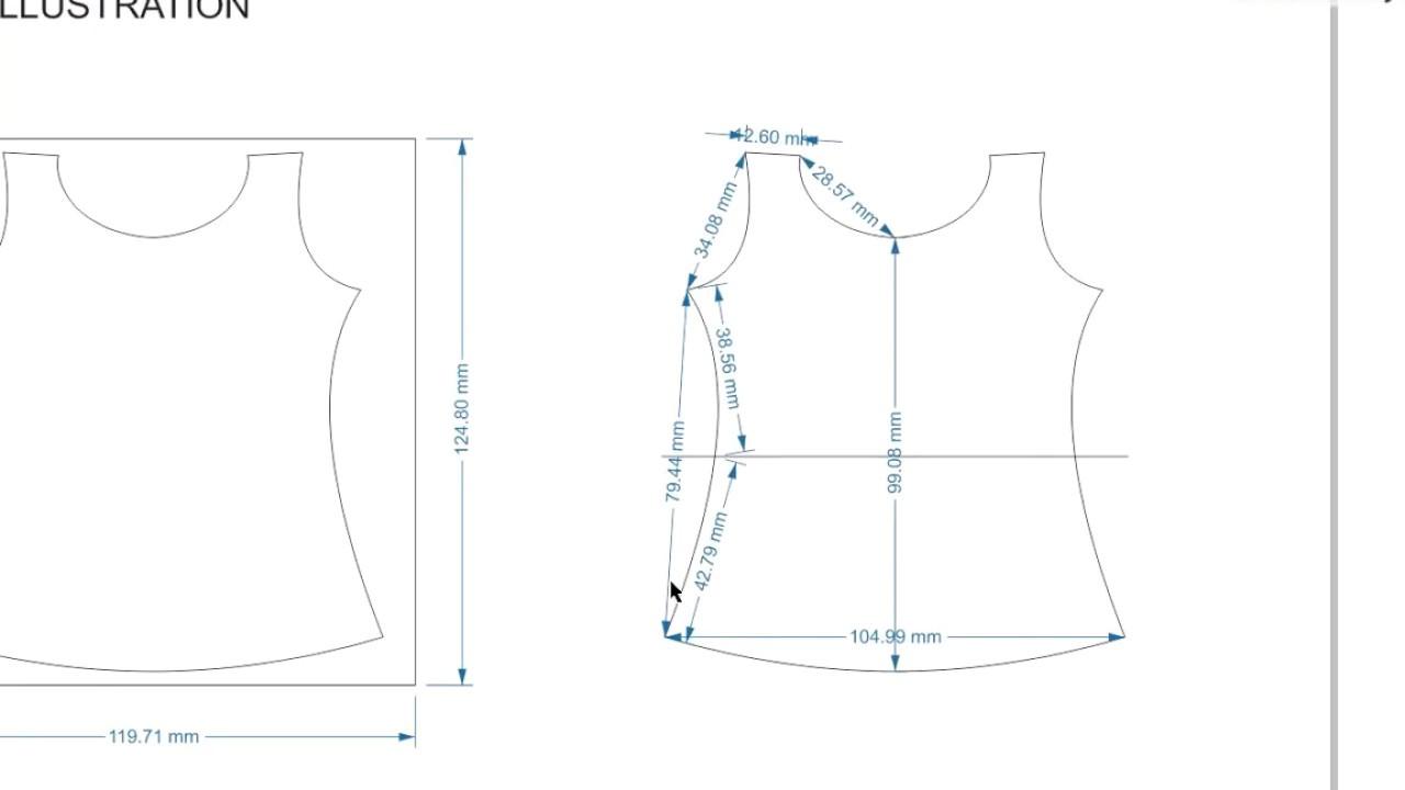 Fashion Design Using Measurement Of Sketch Coreldraw Tutorial Youtube