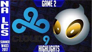 C9 vs DIG Highlights Game 2 | NA LCS Week 4 Summer 2017 | Cloud 9 vs Dignitas G2 thumbnail