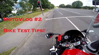Tips For Passing Your Bike Test. MotoVlog #2