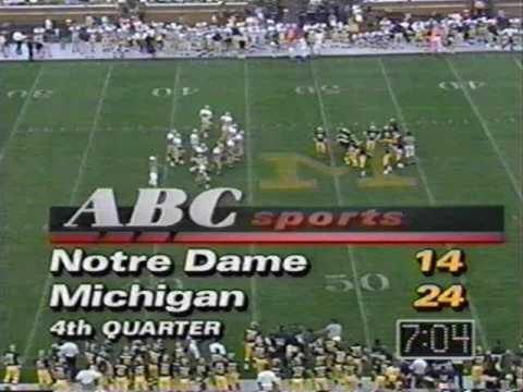 1991: Michigan 24 Notre Dame 14 (PART 2)