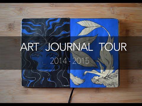 Art Journal Tour!  - Old art (2014-2015)