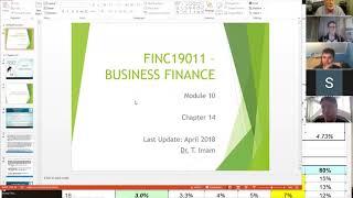 Business Finance 10: Wednesday Workshop