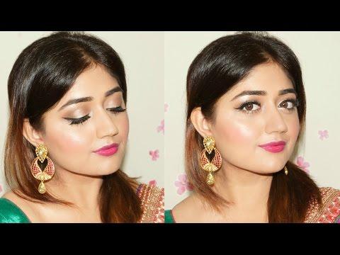 makeup by ethnico-n Festive Makeup Tutorial : Pink Glow | Navratri Makeup | corallista
