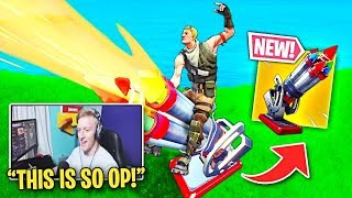 Streamers BEST CLIPS with *NEW* Bottle Rocket Weapon in Fortnite